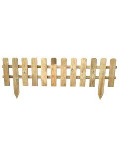 Staccionata per recinto steccato in legno impregnato 30x120 cm h.30/45 Europa