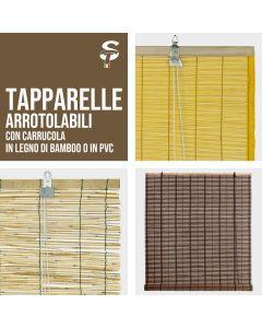 Tapparella Tenda Bamboo PVC Arredamento Casa Stile Protezione Luce