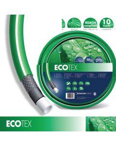 Tubo Acqua Retinato Irrigazione Giardino Prato 5/8''(15mm) PVC 4 Strati 25m Verde