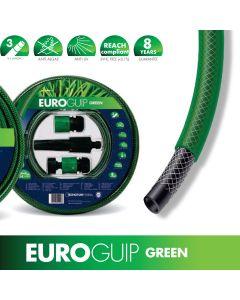 """KIT Tubo Irrigazione Giardino Orto 1/2""""(12.5mm) x 15m e Accessori Raccordi rubinetto Verde"""