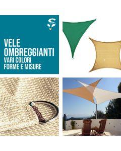 Vela Parasole Ombreggiante Quadrata Triangolare varie misure e colori top STI