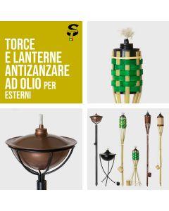 Torcia Bamboo Metallo da giardino anti zanzare olio Torce Lanterna TOP STI