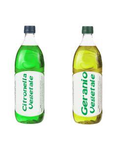 Olio Vegetale al Geranio liquido per torce lampada anti zanzare 1 Litro