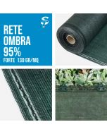 Rete Ombreggiante Pesante Ombra telo Verde giardino + 95% H.100/400cm Frangisole
