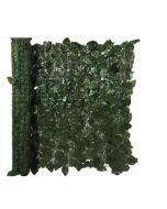 Siepe artificiale ornamentale foglie artificiali di Alloro Lauro su supporto plastica