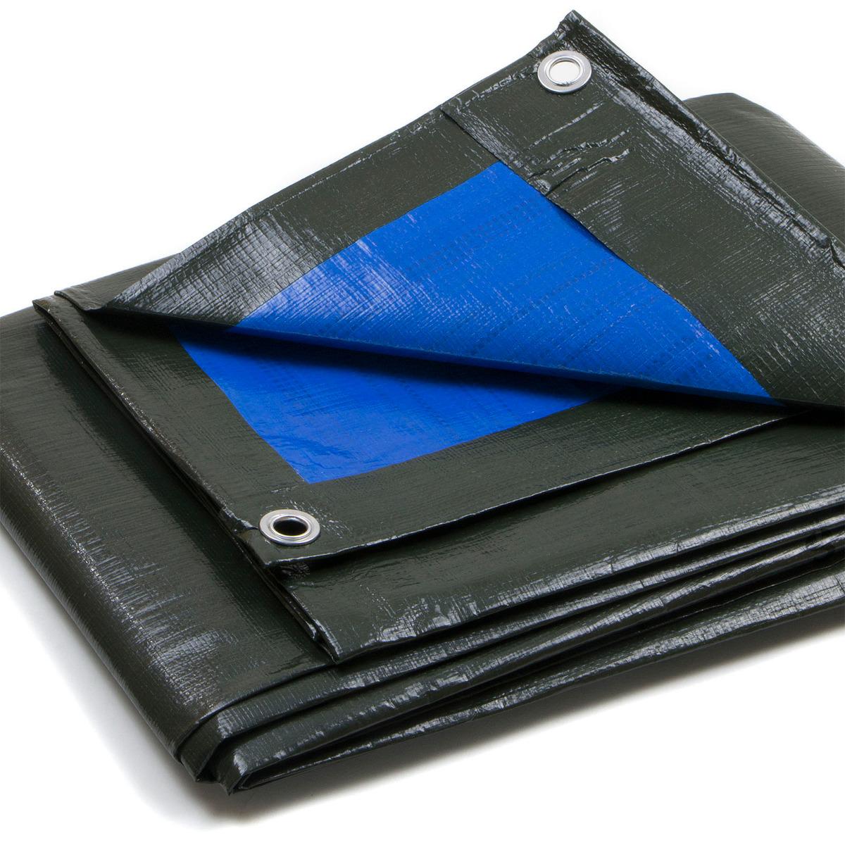 Telo-Pesante-Occhiellato-Verde-Blu-Impermeabile-copritutto-multiuso-Varie-Misure miniatura 10