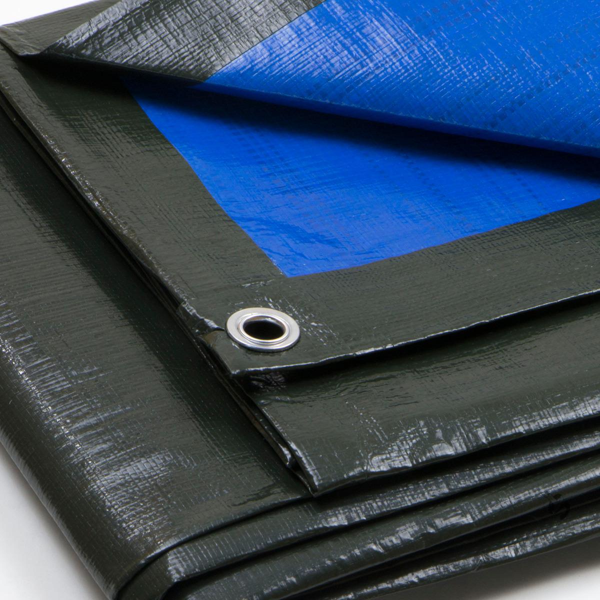 Telo-Pesante-Occhiellato-Verde-Blu-Impermeabile-copritutto-multiuso-Varie-Misure miniatura 11