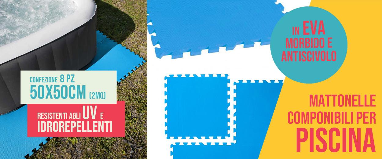 Tappeto Puzzle Eva Blu